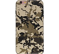 cheap -Case For Apple iPhone 7 Plus iPhone 7 Ultra-thin Pattern Back Cover Camouflage Color Soft TPU for iPhone 7 Plus iPhone 7 iPhone 6s Plus