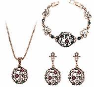 Жен. Серьги-слезки Ожерелья с подвесками Браслет Синтетический алмаз Винтаж Pоскошные ювелирные изделия Массивные украшения Chrismas