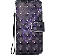 cheap -Case For Sony Xperia XZ XA1 Animal Pattern 3D PU Wallet Leather Card Holder with Hand Strap for Sony Xperia XA Ultra E5 XA