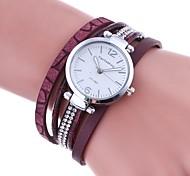 Women's Fashion Watch Bracelet Watch Unique Creative Watch Simulated Diamond Watch Chinese Quartz Imitation Diamond PU Band Charm Casual
