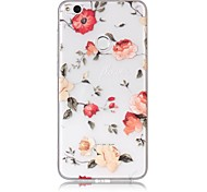 cheap -Case For Huawei P9 Lite Huawei Huawei P8 Lite Pattern Back Cover Flower Soft TPU for P10 Lite Huawei P9 Lite P8 Lite (2017) Huawei P8