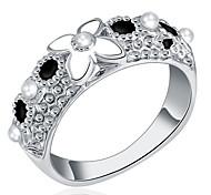 Недорогие -Жен. Классические кольца На заказ Роскошь Классика Классический Секси Любовь Мода Симпатичные Стиль Elegant Сплав Цветы Бижутерия