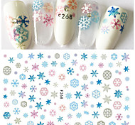 1pcs Colorful Snowflake Fashion Christmas Design Sweet Nail Art 3D Sticker DIY Beauty Manicure Art Lovely Decoration Beautiful Snowflake Decals F268
