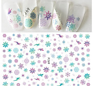 1pcs Hot Fashion Christmas Nail Art 3D Sticker Romantic Purple&Cyan Snowflake Beautiful Butterfly Elf Fairy Lovely Design Nail  DIY Decoration F269