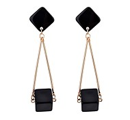 Women's Drop Earrings Classic Fashion Hard Plastic Alloy Geometric Jewelry For Daily Formal