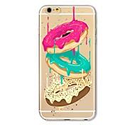 Недорогие -Кейс для Назначение Apple iPhone X iPhone 8 Plus Прозрачный С узором Задняя крышка Продукты питания Мягкий TPU для iPhone X iPhone 8 Plus