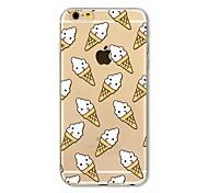 Кейс для Назначение Apple iPhone X iPhone 8 Plus Прозрачный С узором Задняя крышка Плитка Продукты питания Мягкий TPU для iPhone X iPhone