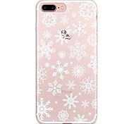 Para iPhone X iPhone 8 Carcasa Funda Transparente Diseños Cubierta Trasera Funda Navidad Suave TPU para Apple iPhone X iPhone 8 Plus