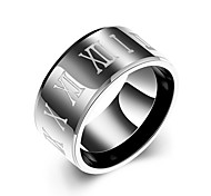 cheap -Men's Ring Jewelry Black Stainless Steel Round Circular Daily Casual Costume Jewelry
