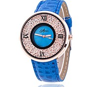 Hombre Reloj de Moda Reloj de Pulsera Reloj creativo único Reloj Casual Reloj de cristal flotante Chino Cuarzo PU Banda Casual Elegantes