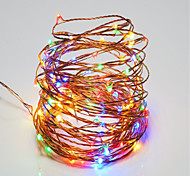 cheap -10W String Lights 100 <5V 10m 100 leds Warm White White RGB Red Yellow Blue Green