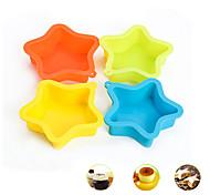 Недорогие -Пентакль звезда Форма торта выпечки Формы силиконовые Материал, случайный цвет