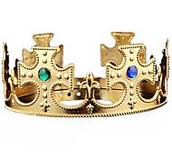 Недорогие -Хэллоуин Рождество король корона монтируется драгоценный камень драгоценный камень головной убор косплей карнавал маскарад вечеринка