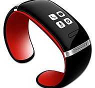 baratos -hhy moda l12s oled bluetooth bracelet watch music player / anti drop function id do chamador