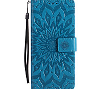 cheap -For Case Cover Card Holder Wallet with Stand Flip Embossed Full Body Case Flower Hard PU Leather for Sony Sony Xperia XZ Sony Xperia X