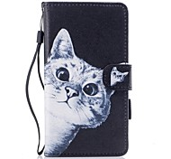 cheap -Case For Huawei P10 Lite Card Holder Wallet with Stand Flip Magnetic Pattern Full Body Cases Cat Hard PU Leather for P10 Lite P8 Lite