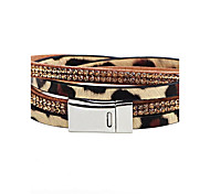 Men's Women's Leather Bracelet Animal Design Handmade Leather Leopard Jewelry For Casual Going out