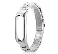 нержавеющая сталь наручные часы ремешок петля часы полоса для xiaomi mi band 2 -silver