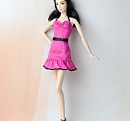 cheap -Dresses Dress For Barbie Doll Silk/Cotton Blend Dress For Girl's Doll Toy