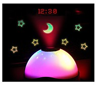 Digital Magic LED Projection Alarm Clock Night Light Color Changing Star light Without Battery