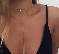 preiswerte -Damen Lang Layered Ketten - Modisch Gold, Silber Modische Halsketten Für Alltag, Normal
