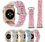 38/42mm Glitter Geometric Prints Colorful PU Leather Watch Band Bracelet for iwatch Apple Watch 3 Series 1/2