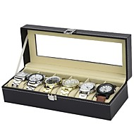 Watch Box Men's Watch Box Watch Box for Men Wood Watch Box Watch Display Gift Custom Watch Box for 6 Watches and secret compart