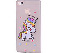 Custodia per Huawei p10 lite p10 Custodia per copertina caso silicone morbido unicorno per huawei p9 lite p8 lite
