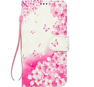 Case For Samsung Galaxy A5 2017 A3 2017 Flower Pattern PU Wallet Leather Card Holder with Hand Strap for Samsung Galaxy A3 2016 A5 2016