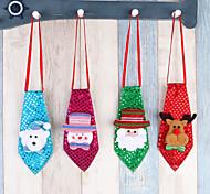 Недорогие -4pc рождественские украшения взрослые дети школьные украшения небольшие подарки творческие маленькие подарки галстук светящийся