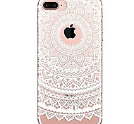 For iPhone 7 iPhone 7 Plus Case Cover Ultra-thin Transparent Pattern Back Cover Case Mandala Lace Printing Soft TPU for Apple iPhone 7
