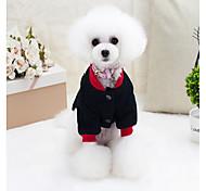Собака Жилет Одежда для собак На каждый день Буквы и цифры Черный Красный