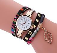Жен. Модные часы Часы-браслет Уникальный творческий часы Китайский Кварцевый PU Группа Винтаж С подвесками Повседневная Элегантные часы