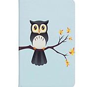 Недорогие -сова шаблон держатель карты кошелек с подставкой флип магнитный кожаный чехол pu для Samsung Galaxy Tab 10,1 t580n t585n 10,1-дюймовый