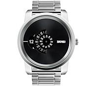 los relojes ocasionales de los hombres de los relojes de la marca de fábrica de los hombres de lujo del cuarzo-relojes del acero