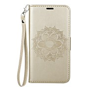 cheap -Case For Samsung Galaxy J2 PRO 2018 Card Holder with Stand Flip Pattern Embossed Full Body Cases Mandala Hard PU Leather for J2 PRO 2018