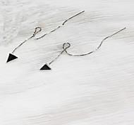 Недорогие -Жен. Серьги-гвоздики Бижутерия Мода Простой стиль Стерлинговое серебро В форме линии Треугольной формы Бижутерия Назначение Повседневные