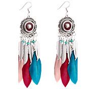cheap -Women's Luxury Bohemian Drop Earrings Hoop Earrings - Luxury Bohemian White Black Red Rainbow Dark Navy Geometric Earrings For Gift Casual