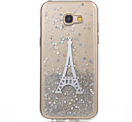 Case for Samsung Galaxy A3(2017) A5(2017) Case Cover Pattern Back Cover Case Eiffel Tower Soft Silicone