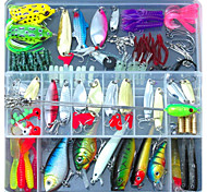 134 pcs Jig Head Shad Grub Soft Jerkbaits Hard Bait Soft Bait Spoons Craws / Shrimp Frog Minnow Crank Pencil Popper Vibration/VIB Lure
