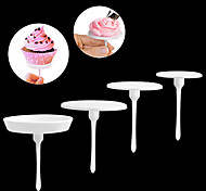4PCS Flower Nail Receptacle Removable Frosted Antiskid Piping Cake Tools