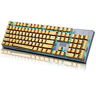 cheap -E-Element 104 PBT Double Shot Injection Backlit Golden Metal Color Keycaps for all Mechanical Keyboards with Key Puller