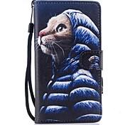 Custodia Per Huawei P10 Lite A portafoglio Porta-carte di credito Con supporto Con chiusura magnetica Fantasia/disegno A calamita