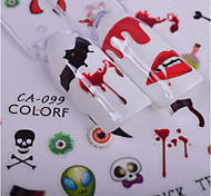 8 Nail Art Sticker  Pattern Halloween Accessories Art Deco/Retro 3D Nail Stickers Cartoon Parts Accessories 3-D Sticker DIY Supplies