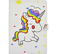 cheap -For iPad (2017) Case Cover Card Holder with Stand Flip Pattern Magnetic Full Body Case Unicorn Hard PU Leather for Apple iPad pro 10.5