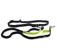 Dog Leash Hands Free Leash Reflective Classic Nylon Green Black