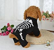 Cane Costumi Abbigliamento per cani Halloween Teschi Nero