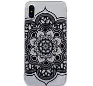 cheap -Case For Apple iPhone X iPhone 8 Plus IMD Pattern Back Cover Mandala Lace Printing Soft TPU for iPhone X iPhone 8 Plus iPhone 8 iPhone 7