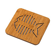 cheap -Square Wood Mats & Pads  Wooden/Bamboo Material Kitchen Counter Home/Office