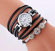 Women's Fashion Watch Bracelet Watch Quartz PU Band Cool Casual Black White Pink
